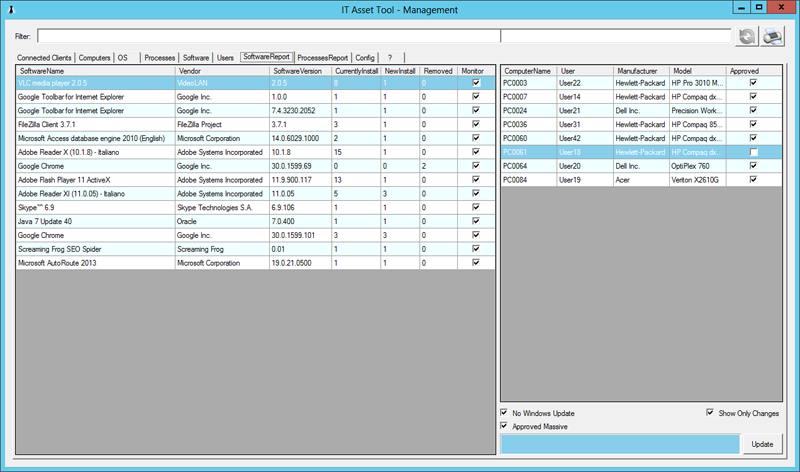 IT Asset Tool Screen shot