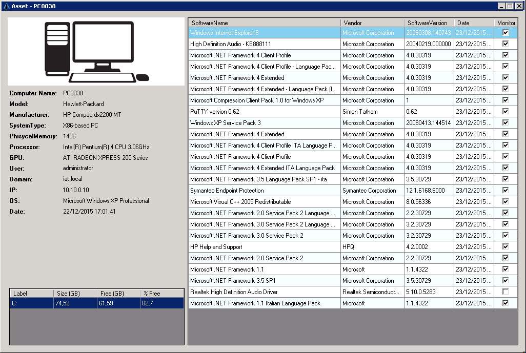 The new version 1 3 00 of IAT the inventory software is in