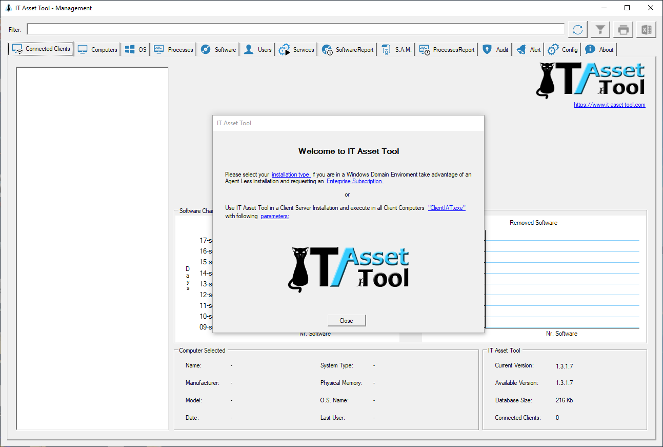 IT Asset Tool Welcome